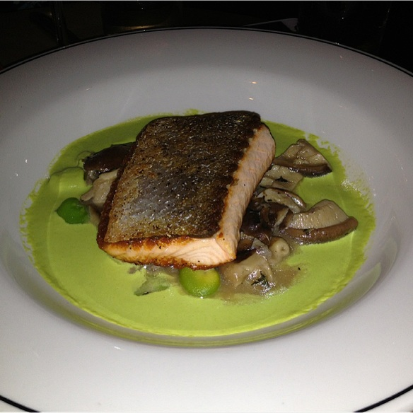 Salmon cauliflower, mushroom,meyer lemon, favabeans ♥♥♥